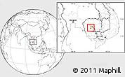 Blank Location Map of Pursat (PT)