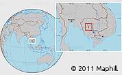 Gray Location Map of Pursat (PT)