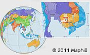 Political Location Map of Pursat (PT), highlighted parent region