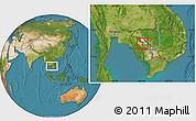 Satellite Location Map of Pursat (PT)