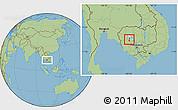 Savanna Style Location Map of Pursat (PT)