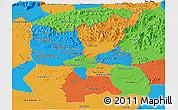 Political Panoramic Map of Ratana Kiri