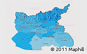 Political Shades Panoramic Map of Ratana Kiri, cropped outside