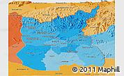 Political Shades Panoramic Map of Ratana Kiri