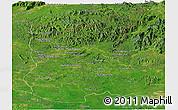 Satellite Panoramic Map of Ratana Kiri