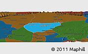 Political Panoramic Map of Chong Kal, darken