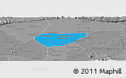Political Panoramic Map of Chong Kal, desaturated
