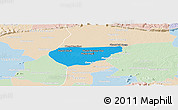 Political Panoramic Map of Chong Kal, lighten