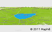 Political Panoramic Map of Chong Kal, physical outside