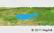 Political Panoramic Map of Chong Kal, satellite outside