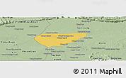 Savanna Style Panoramic Map of Chong Kal