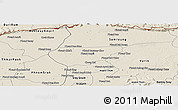 Shaded Relief Panoramic Map of Chong Kal