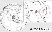 Blank Location Map of Kralanh