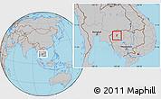 Gray Location Map of Kralanh