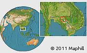 Satellite Location Map of Kralanh