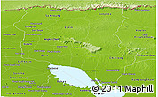 Physical Panoramic Map of Siem Reap