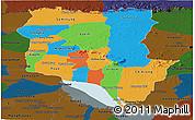 Political Panoramic Map of Siem Reap, darken