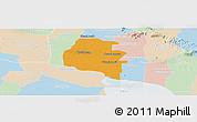 Political Panoramic Map of Pouk, lighten