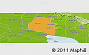 Political Panoramic Map of Pouk, physical outside