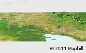 Satellite Panoramic Map of Pouk