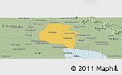 Savanna Style Panoramic Map of Pouk