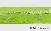 Physical Panoramic Map of Samroung
