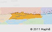 Political Panoramic Map of Samroung, lighten
