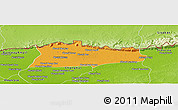 Political Panoramic Map of Samroung, physical outside