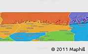Political Panoramic Map of Samroung