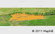 Political Panoramic Map of Samroung, satellite outside