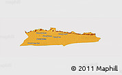 Political Panoramic Map of Samroung, single color outside