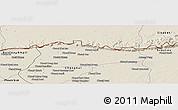 Shaded Relief Panoramic Map of Samroung