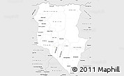 Silver Style Simple Map of Siem Reap