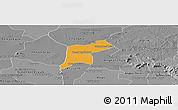 Political Panoramic Map of Srey Snom, desaturated