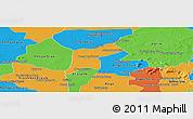 Political Panoramic Map of Srey Snom