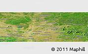 Satellite Panoramic Map of Srey Snom