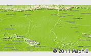 Physical Panoramic Map of Svey Leu