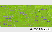 Physical Panoramic Map of Svay Rieng
