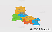 Political Panoramic Map of Svay Rieng, cropped outside