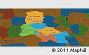 Political Panoramic Map of Svay Rieng, darken