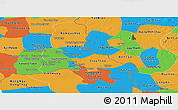 Political Panoramic Map of Svay Rieng