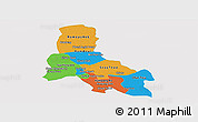Political Panoramic Map of Svay Rieng, single color outside