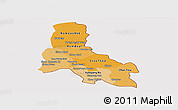 Political Shades Panoramic Map of Svay Rieng, cropped outside
