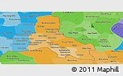 Political Shades Panoramic Map of Svay Rieng