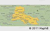 Savanna Style Panoramic Map of Svay Rieng