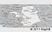 Gray Panoramic Map of Takeo