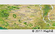 Satellite Panoramic Map of Takeo