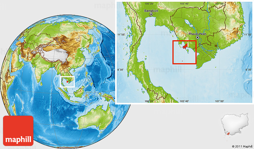 Physical Location Map of Tonle Sap on java map, california republic map, great plains map, sql map, qualcomm map, project management map, purple map,