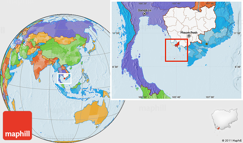 Political Location Map of Tonle Sap, highlighted country on qualcomm map, sql map, california republic map, great plains map, project management map, java map, purple map,
