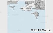 Gray Panoramic Map of Tonle Sap